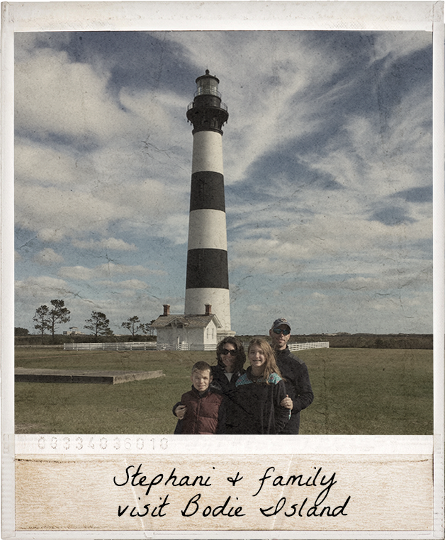 Stephani and family visit Bodie Island