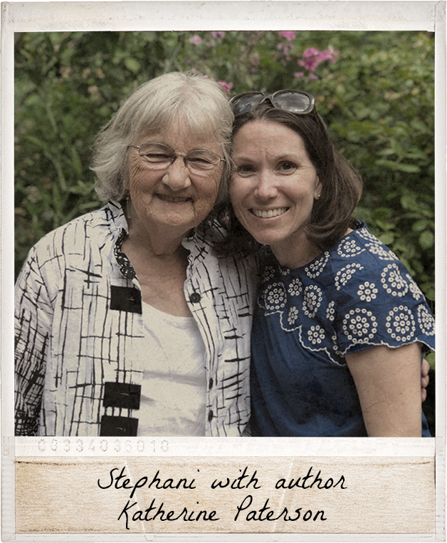 Stephani with author Katherine Paterson